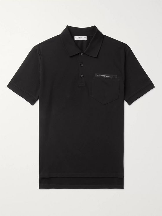 Givenchy Logo-Detailed Cotton-Piqué Polo Shirt