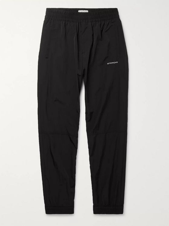 Givenchy Tapered Logo-Print Shell Track Pants