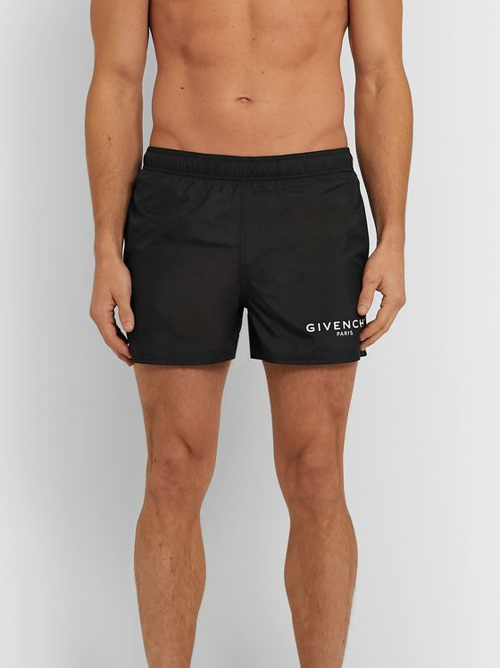 GIVENCHY Short-Length Logo-Print Swim Shorts