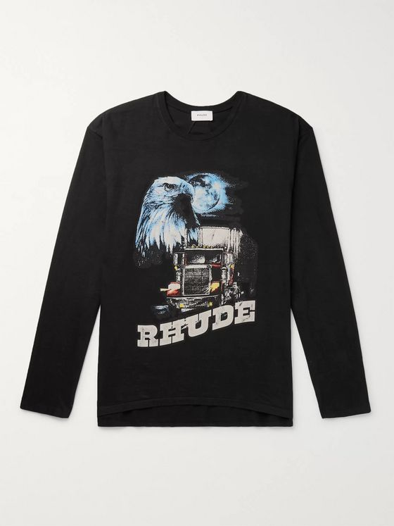 Rhude Printed Cotton-Jersey T-Shirt