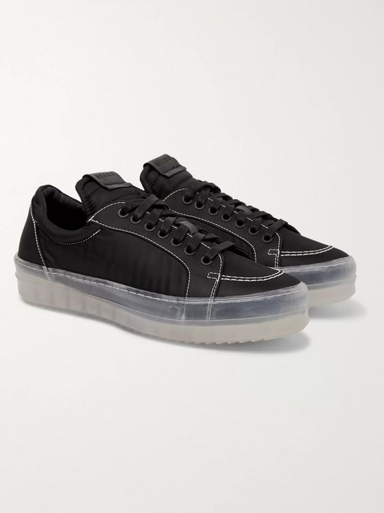 Rhude V1 Leather-Trimmed Nylon Sneakers
