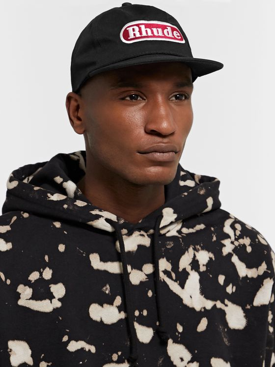 Rhude Pit Stop Logo-Appliquéd Cotton-Twill Baseball Cap
