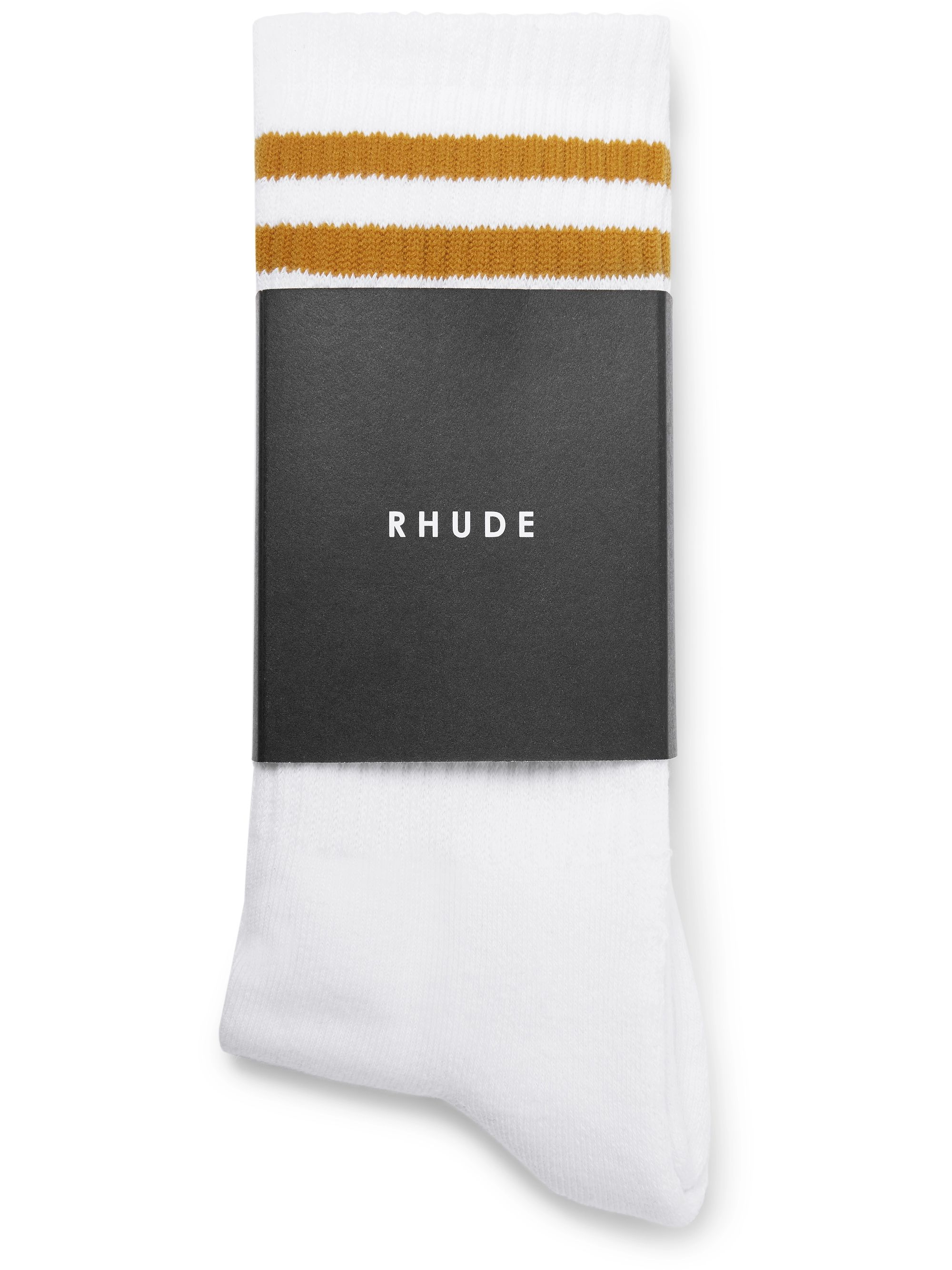 Rhude Logo-Jacquard Ribbed Stretch-Cotton Socks