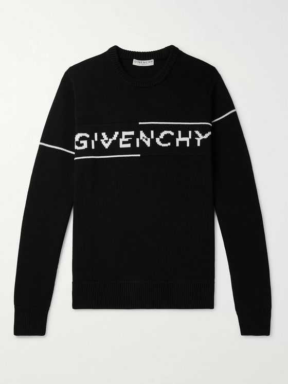 Givenchy Logo-Intarsia Cotton Sweater