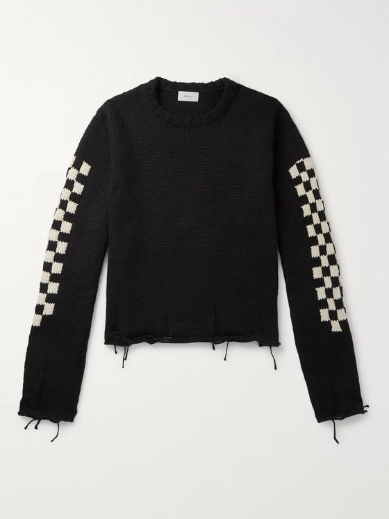 Rhude Distressed Cotton Sweater