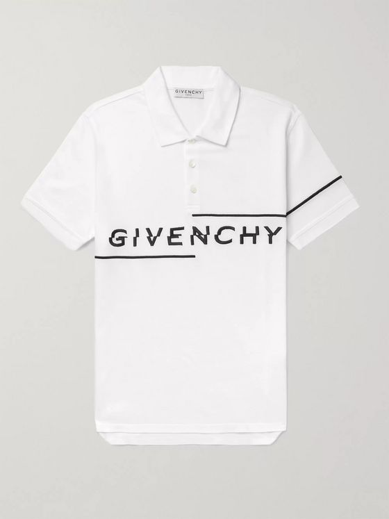 Givenchy Logo-Embroidered Cotton-Piqué Polo Shirt