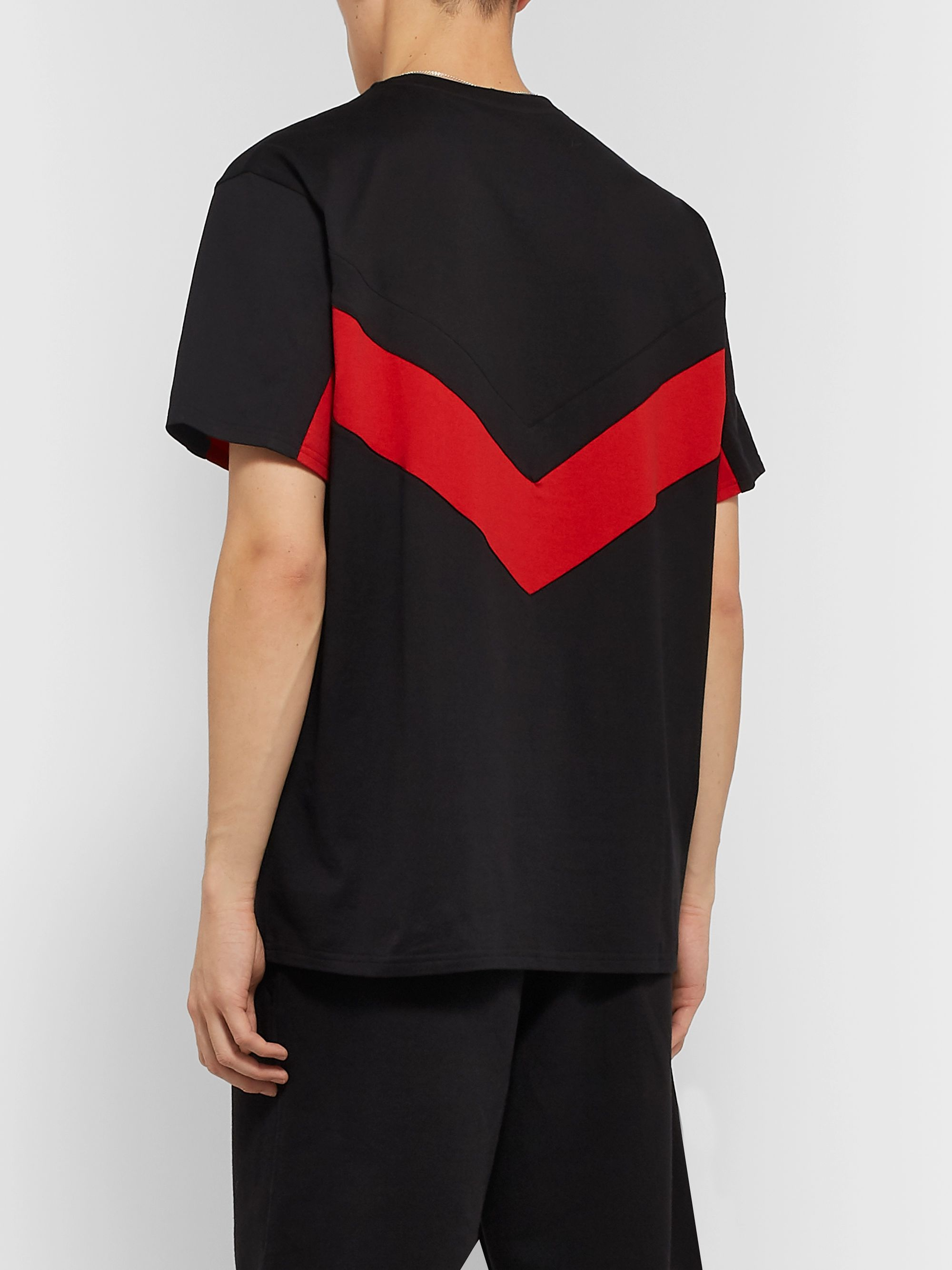 Givenchy Panelled Cotton-Jersey T-Shirt
