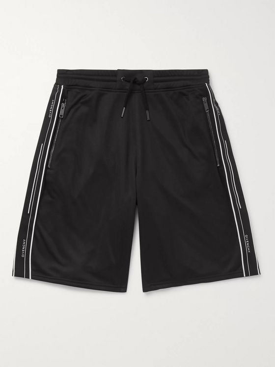 Givenchy Logo-Webbing Fleece-Back Jersey Shorts