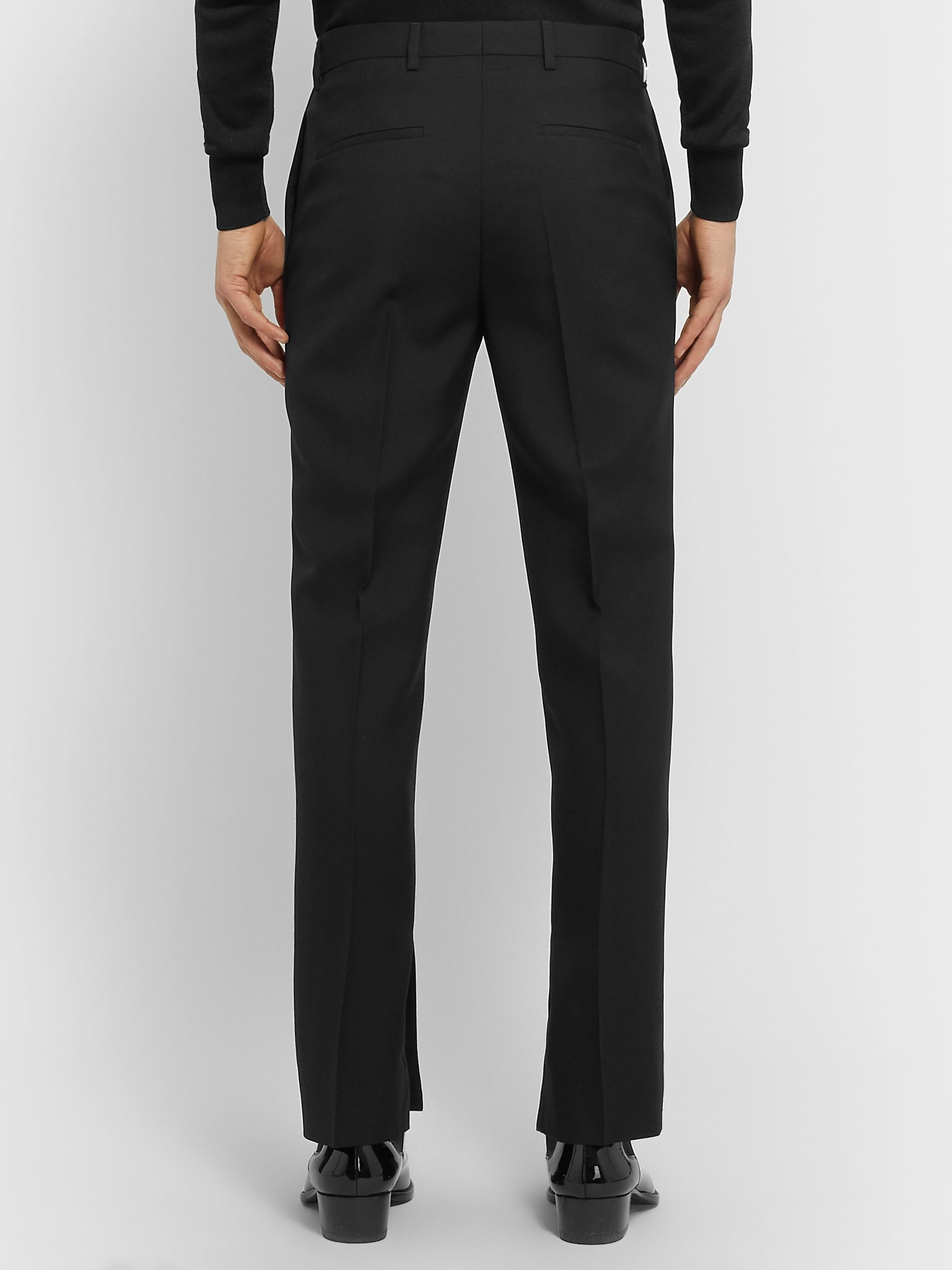 Givenchy Slim-Fit Satin-Trimmed Floral-Jacquard and Wool-Twill Tuxedo