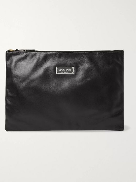 Wacko Maria Logo-Appliquéd Leather Pouch