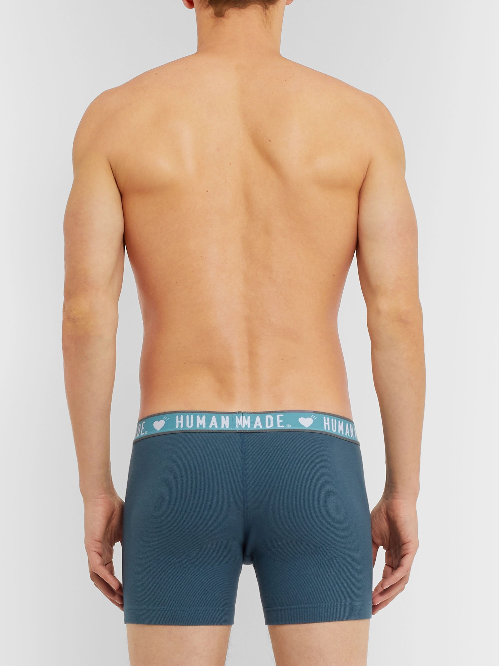 Human Made Ribbed Cotton Boxer Briefs