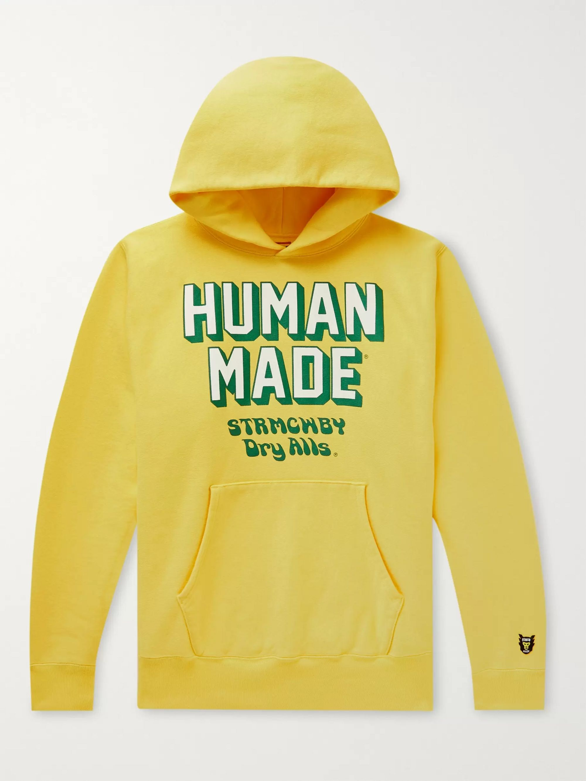 Human Made Pizza Logo-Print Fleece-Back Cotton-Jersey Hoodie