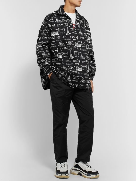 Balenciaga Oversized Printed Cotton-Twill Jacket