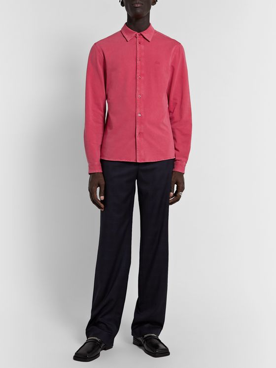 Balenciaga Slim-Fit Stretch-Cotton Jersey Shirt