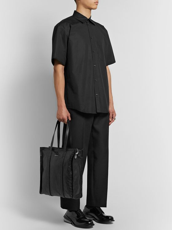 Balenciaga Oversized Logo-Appliquéd Cotton Shirt