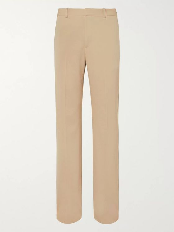 Balenciaga Wide-Leg Virgin Wool-Twill Trousers