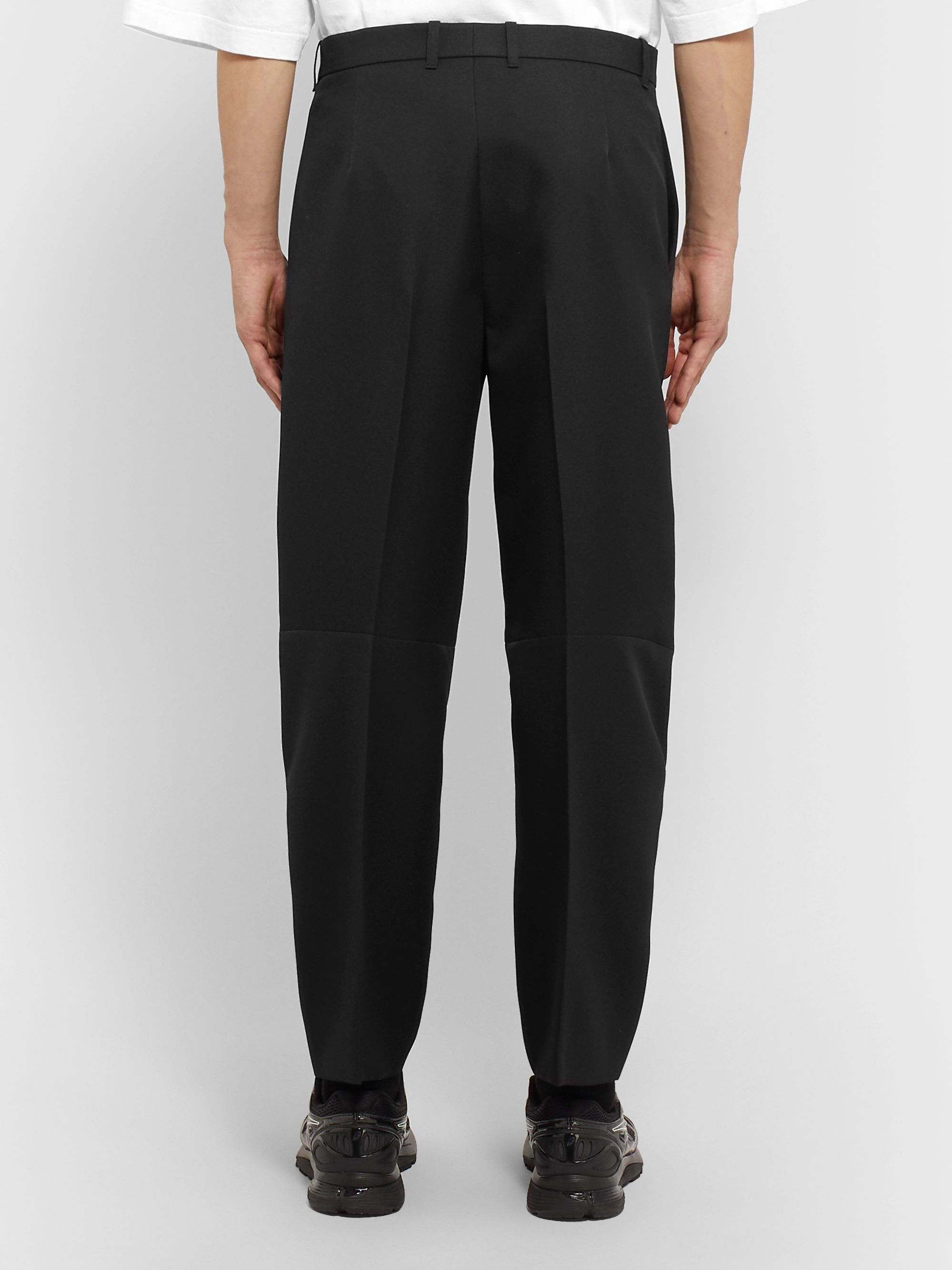 Balenciaga Black Wide-Leg Twill Trousers