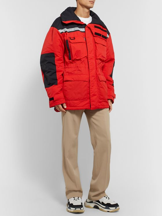 BALENCIAGA Oversized Colour-Block Shell Parka