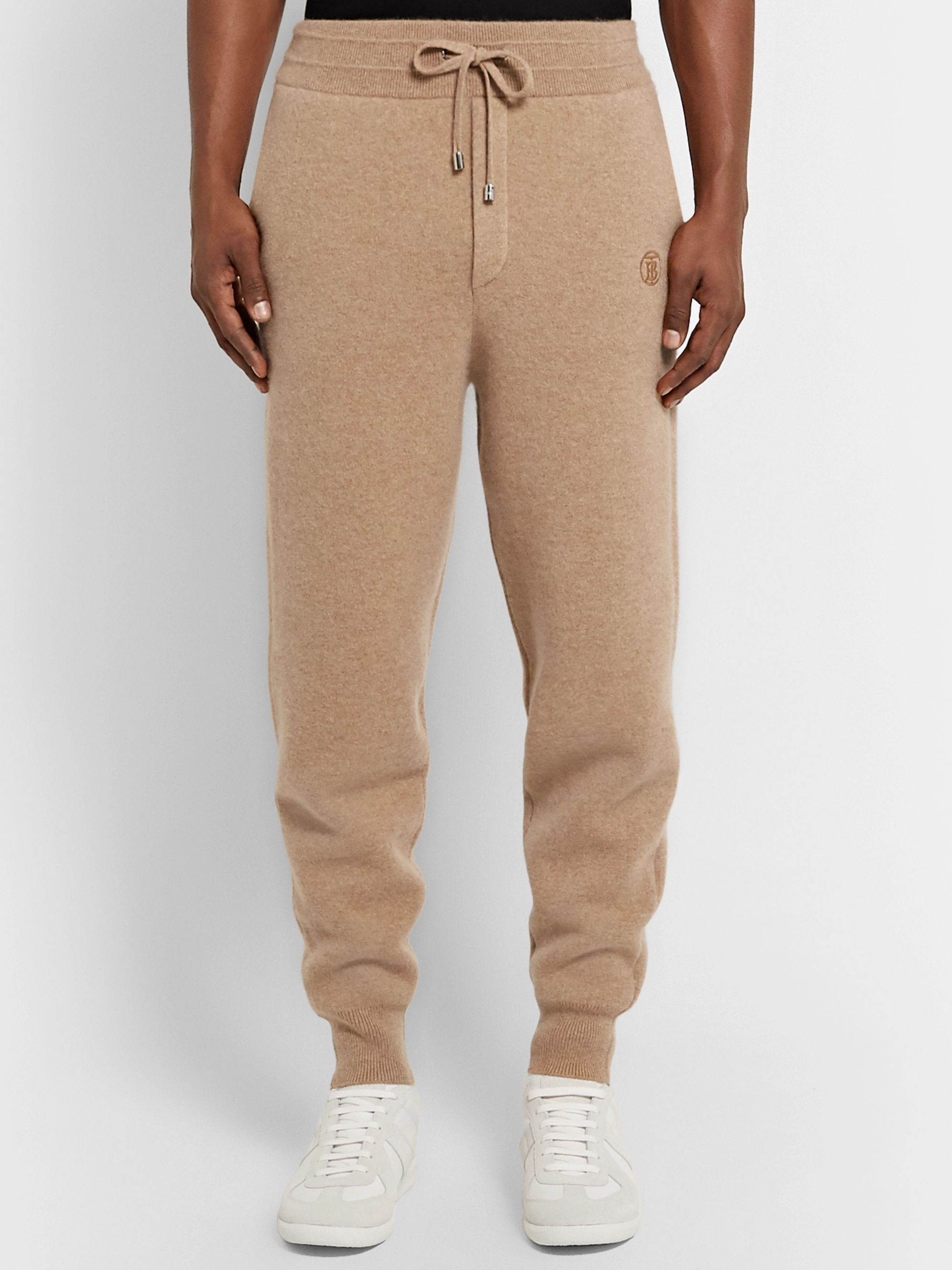 Burberry Tapered Cashmere-Blend Sweatpants