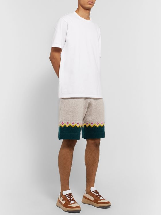 Burberry Fair Isle Wool Drawstring Shorts