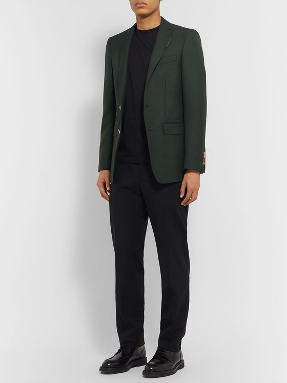 Burberry Dark-Green Wool and Mohair-Blend Suit Jacket