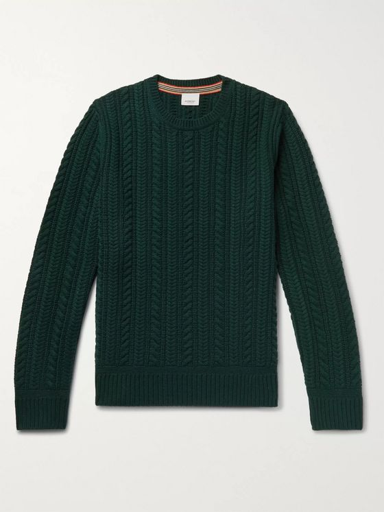 Burberry Cable-Knit Cashmere Sweater