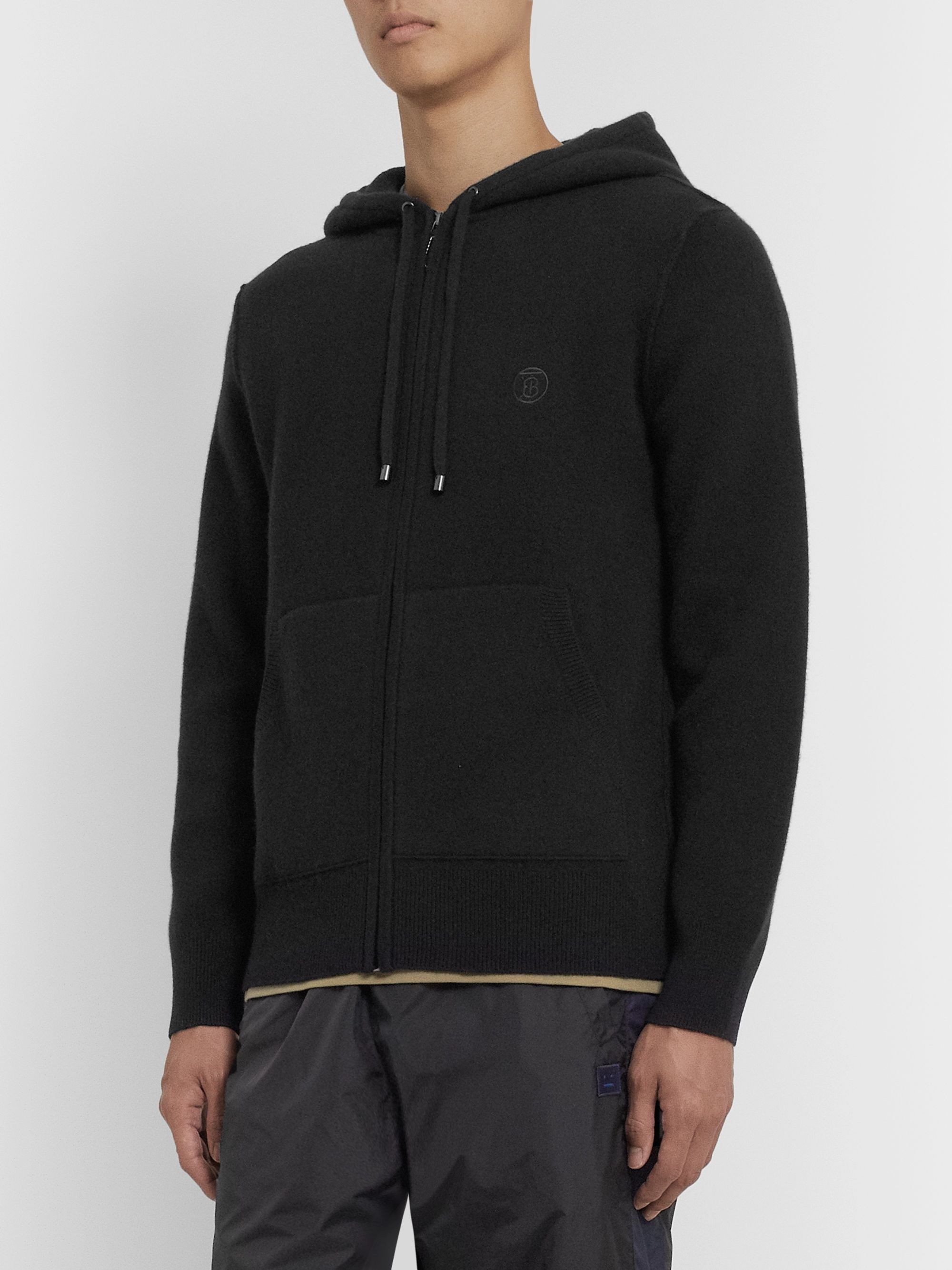 Burberry Cashmere-Blend Zip-Up Hoodie