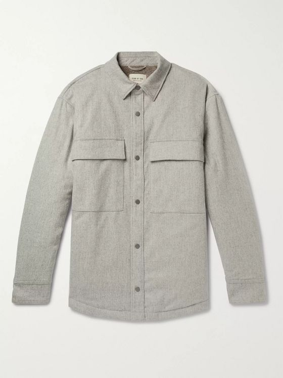 Fear of God Melton Wool-Blend PrimaLoft Overshirt