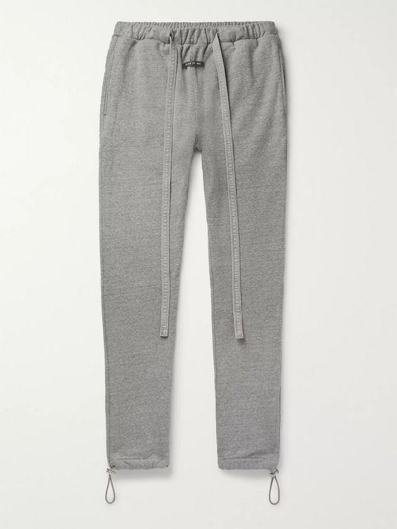 Fear of God Slim-Fit Tapered Belted Mélange Cotton-Blend Jersey Sweatpants