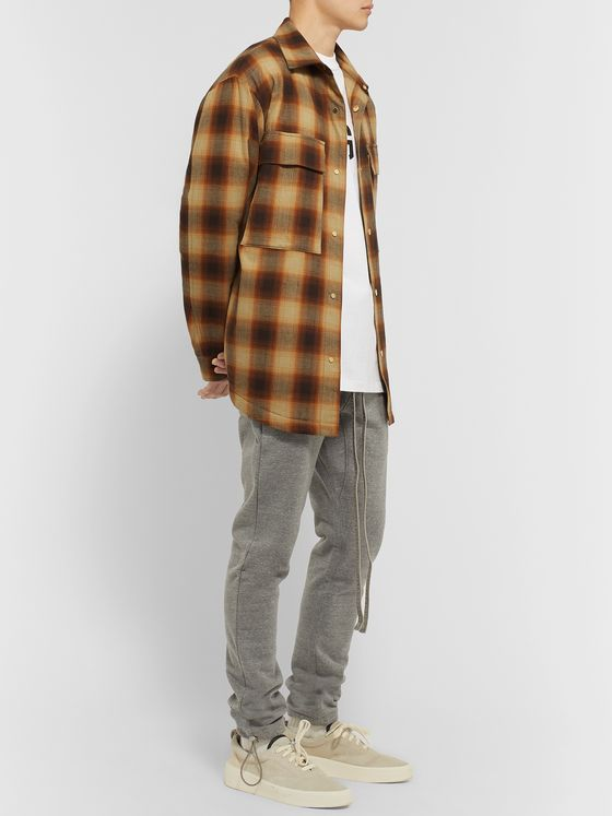 Fear of God Oversized Padded Checked Brushed-Cotton Overshirt