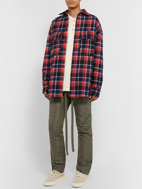 Fear of God Oversized Checked Cotton-Flannel Shirt