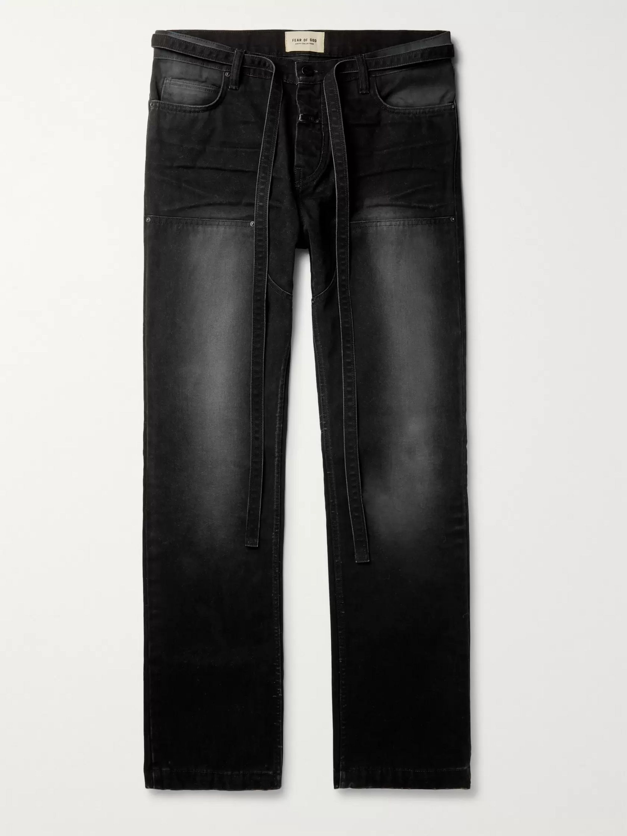Fear of God Belted Cotton-Canvas Trousers