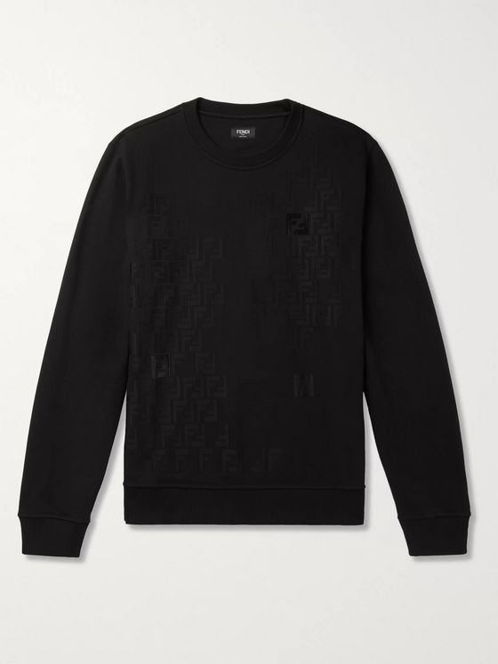 Fendi Logo-Detailed Fleece-Back Cotton-Jersey Sweatshirt