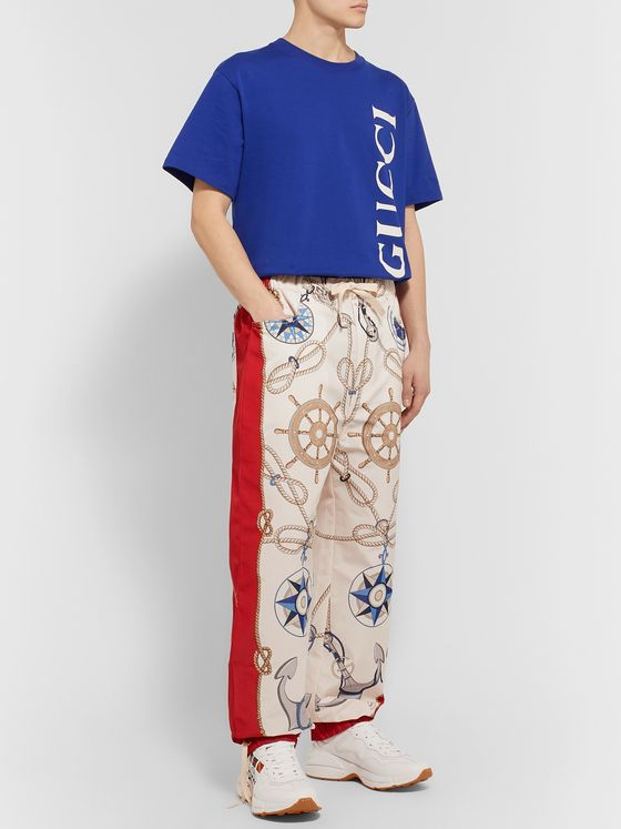 Gucci Tapered Printed Shell Sweatpants