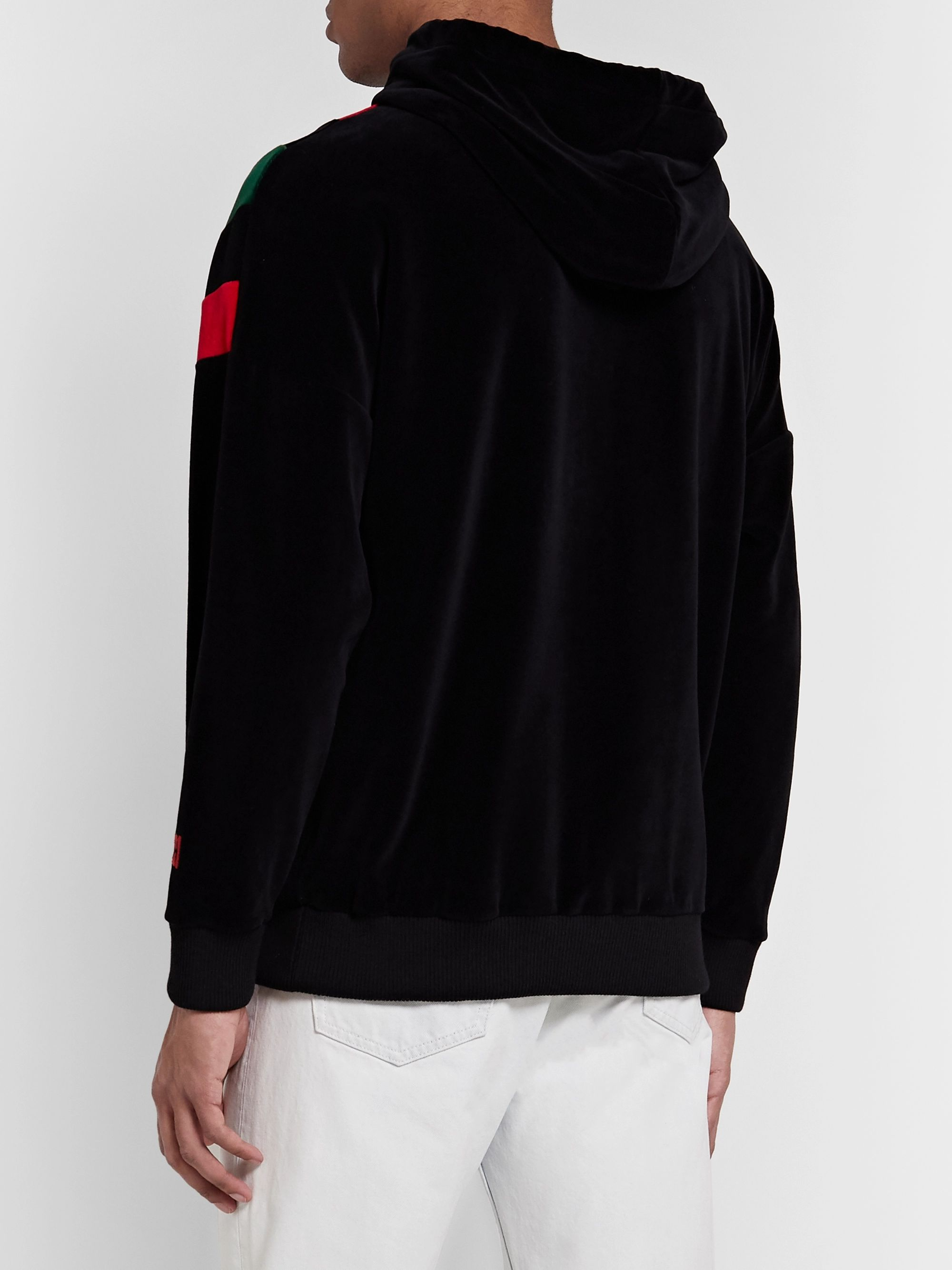 Gucci Striped Cotton-Blend Chenille Hoodie