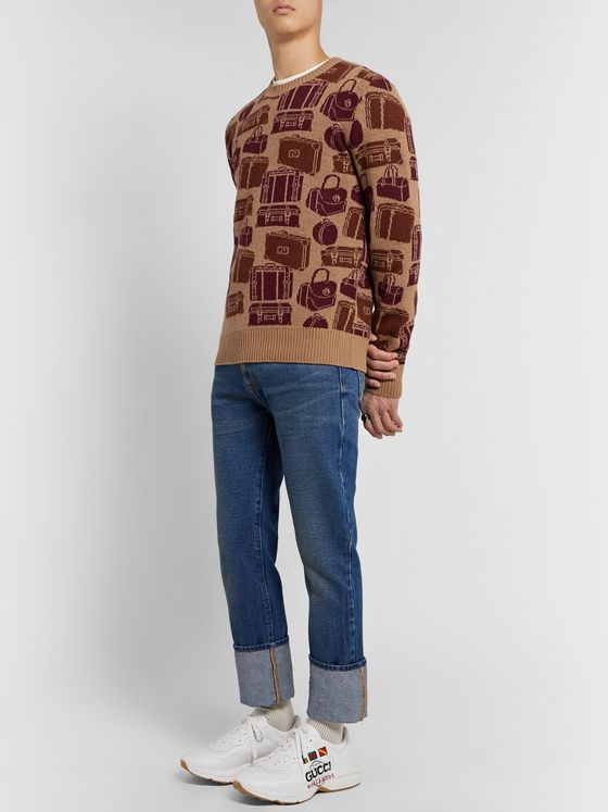 Gucci Logo-Jacquard Wool Sweater