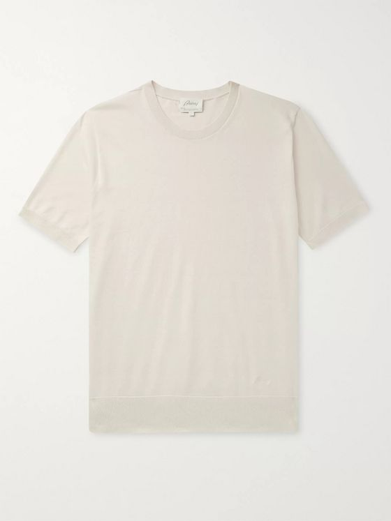 Brioni Knitted Cotton T-Shirt
