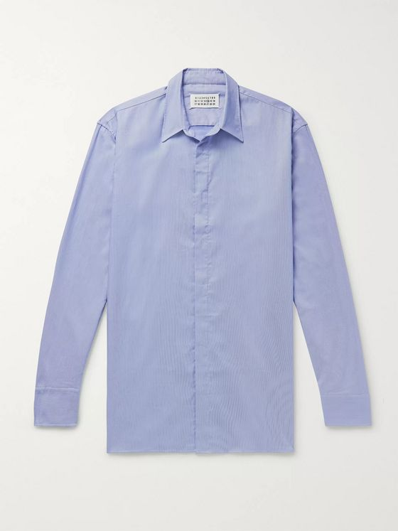 Maison Margiela Pinstriped Cotton-Poplin Shirt