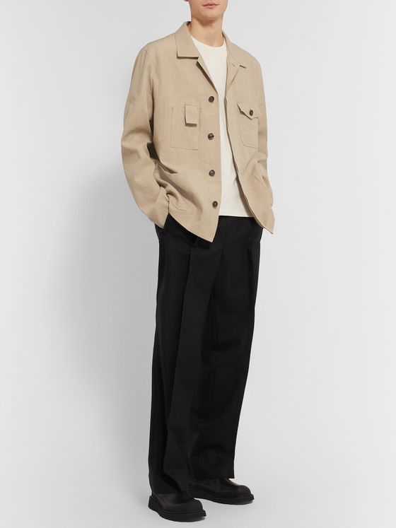 Maison Margiela Camp-Collar Linen and Cotton-Blend Overshirt