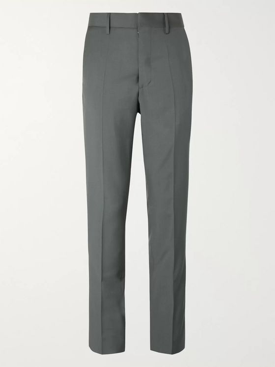 Maison Margiela Bottle-Green Slim-Fit Virgin Wool and Mohair-Blend Suit Trousers