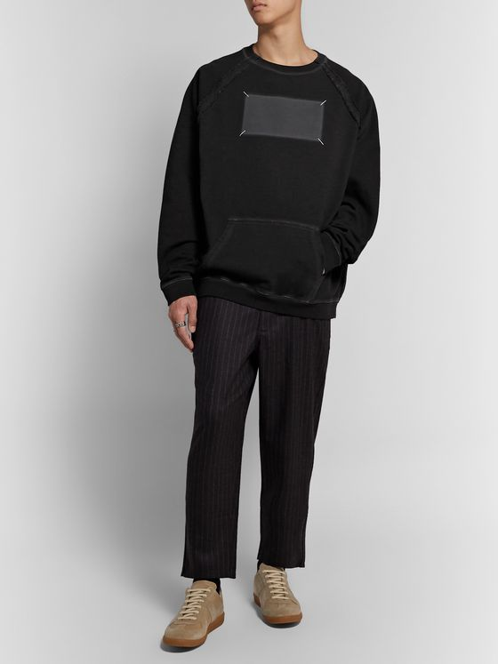 Maison Margiela Oversized Embroidered Printed Loopback Cotton-Jersey Sweatshirt