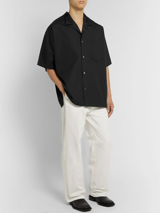 Maison Margiela Oversized Camp-Collar Cotton-Poplin Shirt