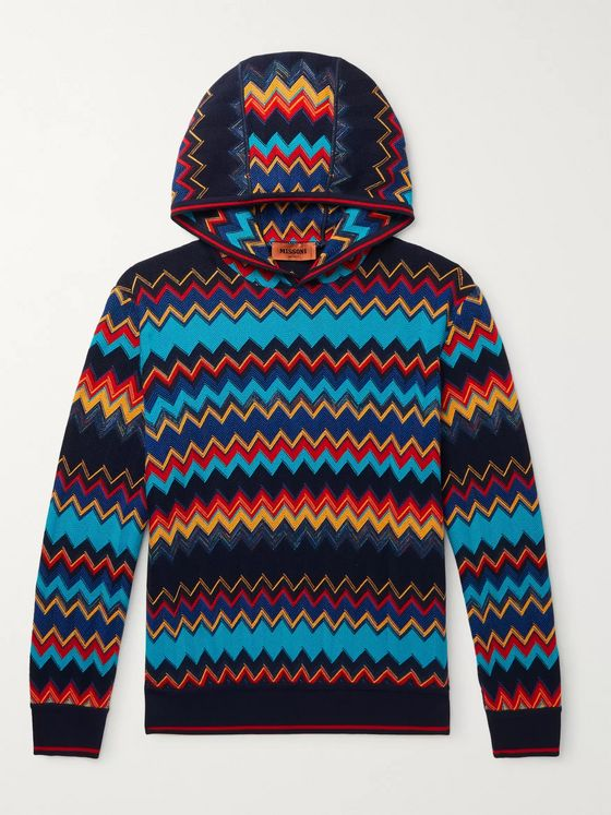 Missoni Cotton and Wool-Blend Intarsia Hoodie