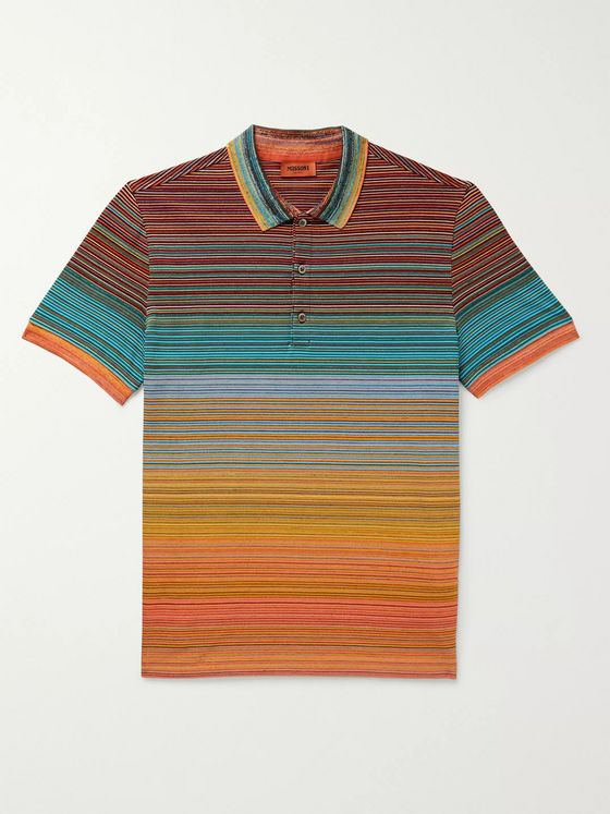 Missoni Striped Cotton Polo Shirt