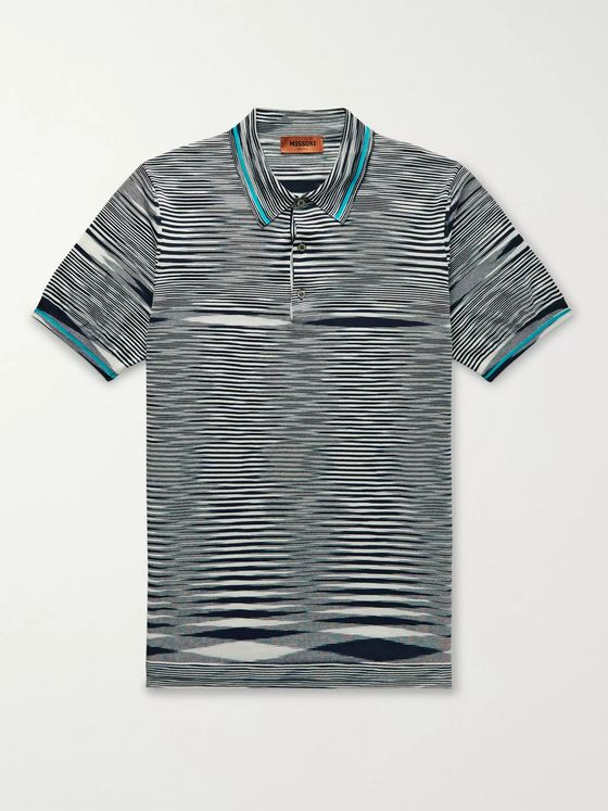Missoni Slim-Fit Space-Dyed Cotton Polo Shirt