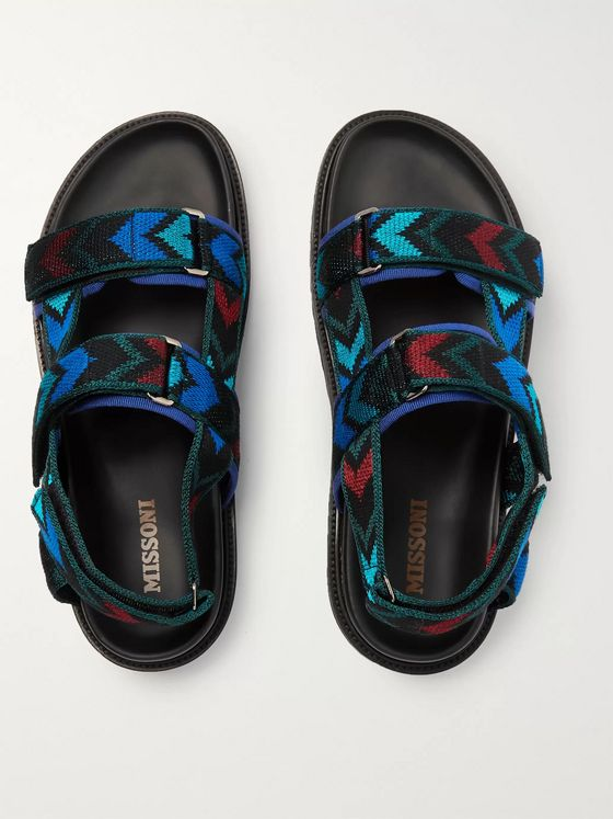 Missoni Jacquard-Knit Sandals
