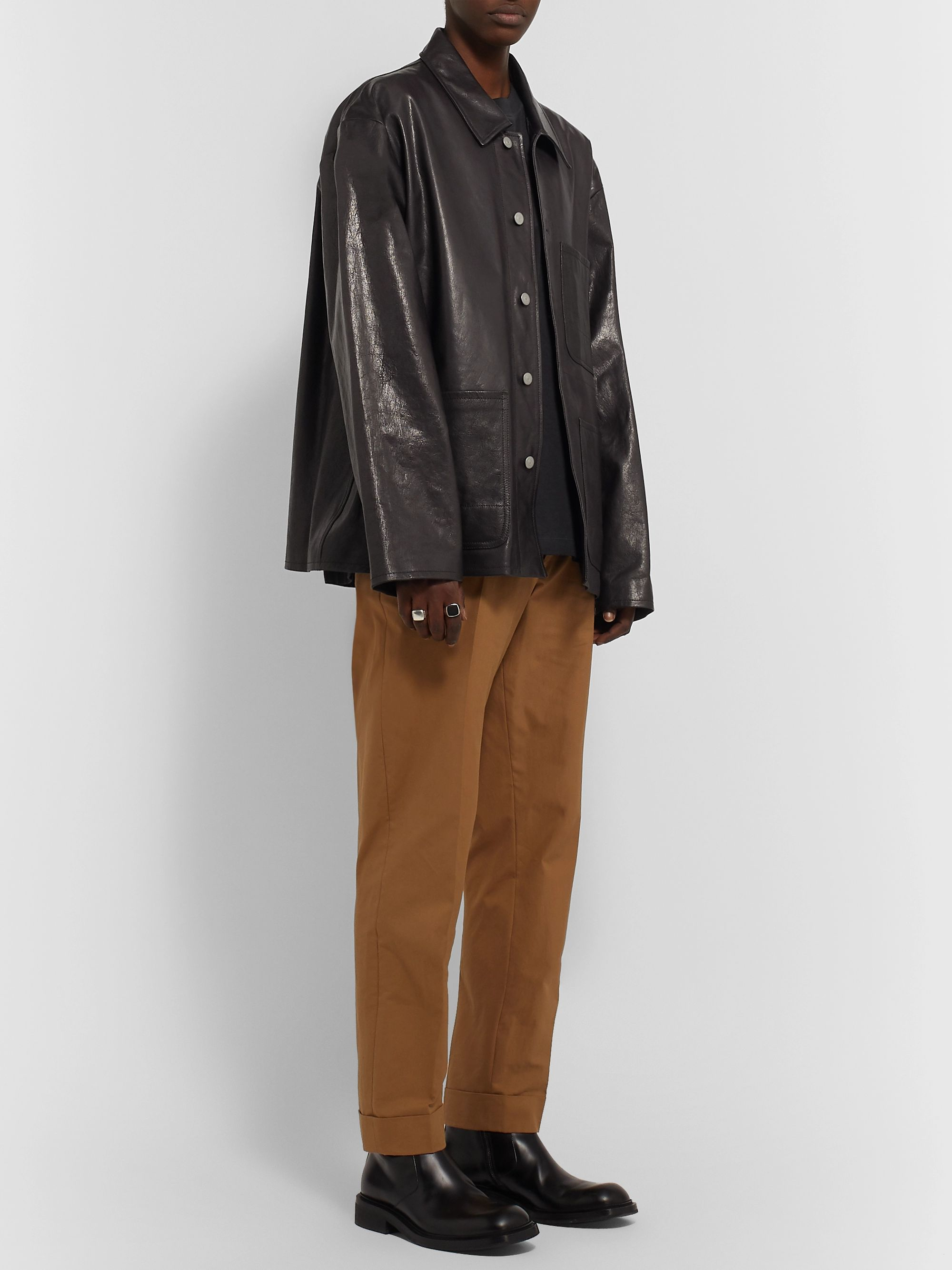 Maison Margiela Full-Grain Leather Jacket