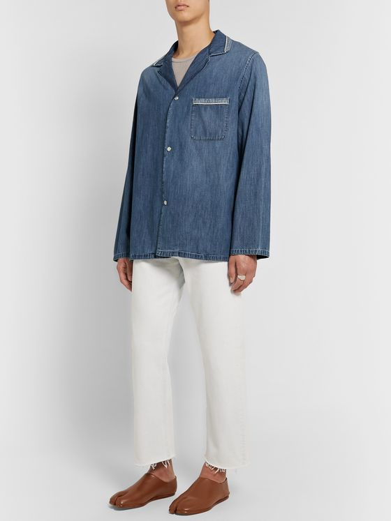 Maison Margiela Camp Collar Denim Overshirt