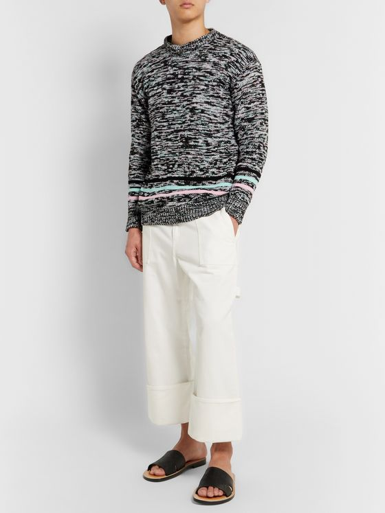 Loewe Striped Mélange Cotton-Blend Sweater