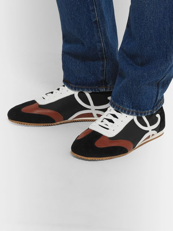 Loewe Leather and Suede-Trimmed Nylon Sneakers